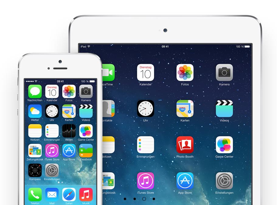 iOS 7 auf iPad und iPhone