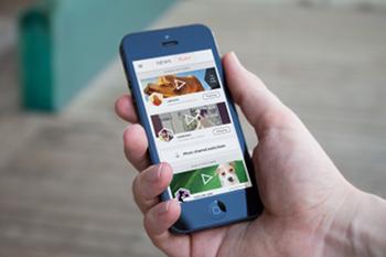 Bedienungsoberfläche des Petcube auf iOS Geräten