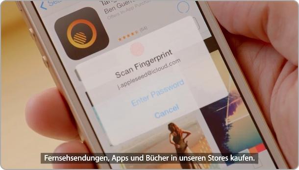 AppStore Kauf per Fingerabdruck - mit dem iPhone 5S möglich