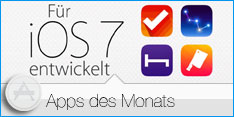 App des Monats September 2013 Für iOS 7 entwickelt 2013