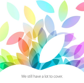 Artwork des Media Events von Apple am 22. Oktober 2013