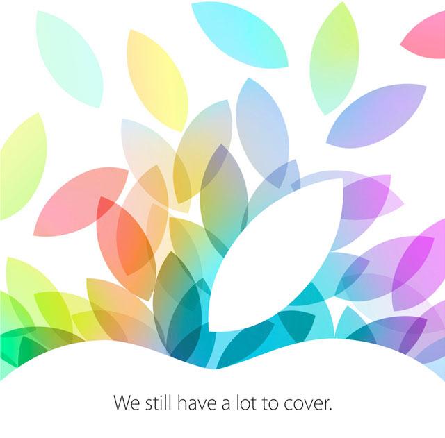 Artwork des Media Events von Apple am 22. Oktober 2013