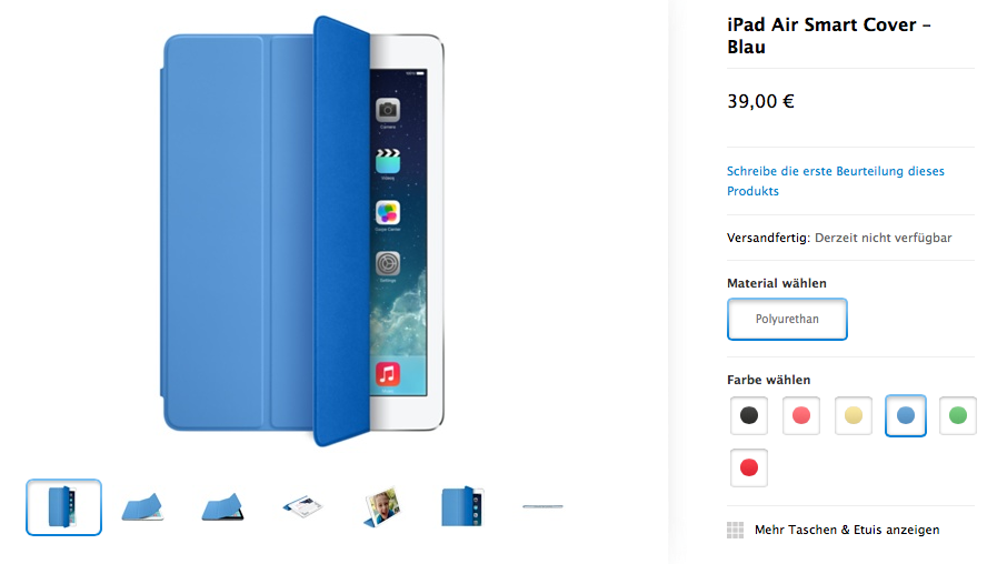 iPad Air Smart Cover bei Apple