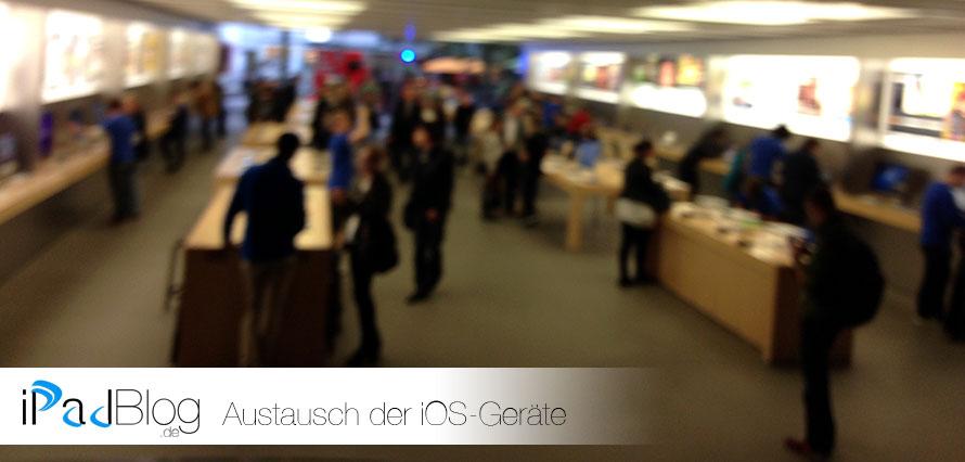 Mit dem Kratzer in den AppleStore