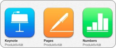 Pages, Numbers, Keynote im AppStore - iWork