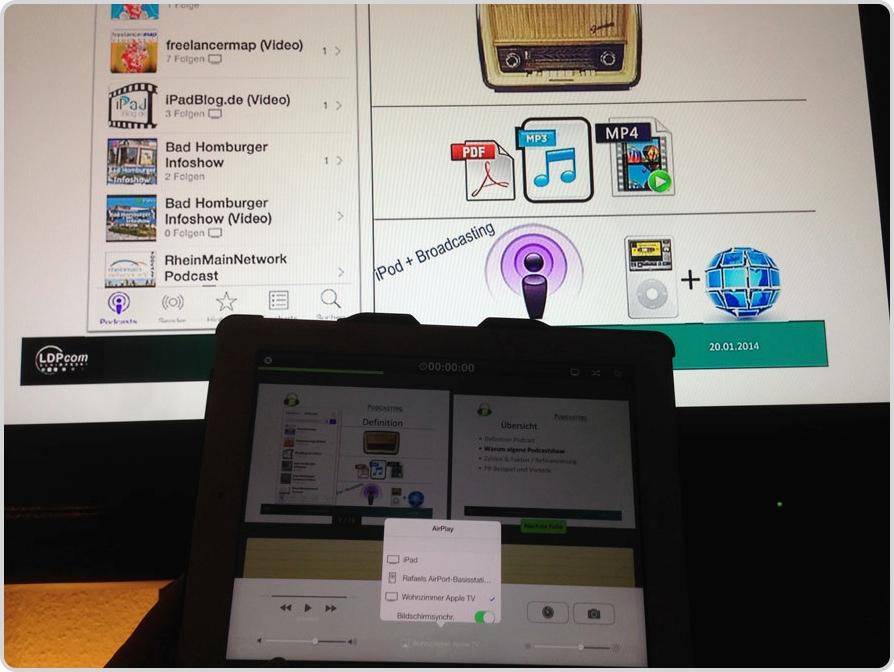 Slidee per AirPlay auf einen TV streamen