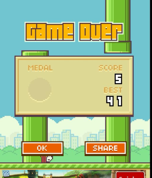 Flappy Bird - Game Over!