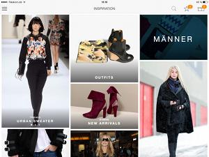 Zalando Mobil Shopping App - Themenbereich Inspiration