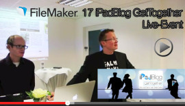Teaser Bild 17. iPadBlog GetTogether Live-Event auf FileMaker Launch-Event