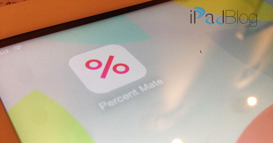 Percent Mate auf dem iPad
