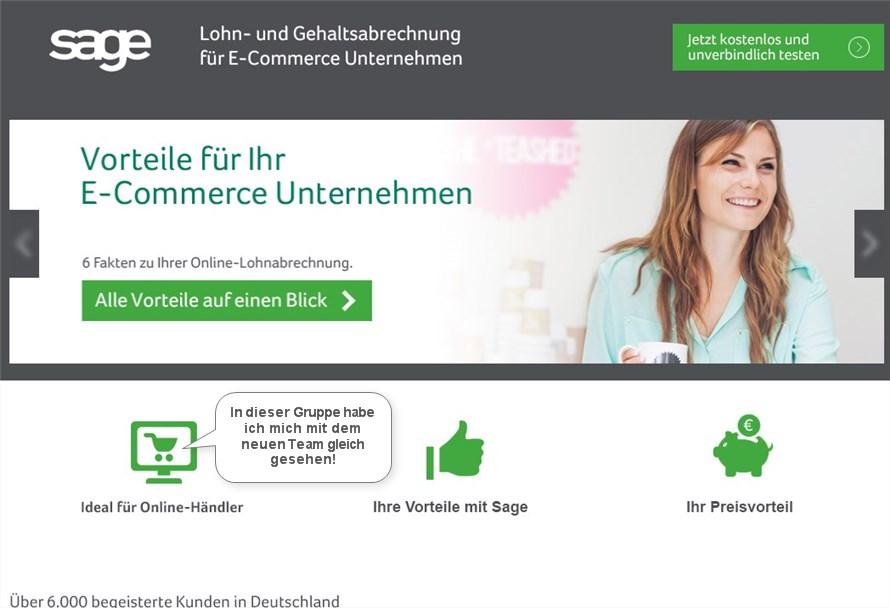 Website Lohn- und Gehaltsabrechnung für E-Commerce Unternehmen