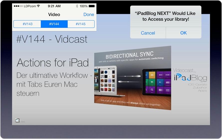 Teaser für die Videoepisode #V144 im Zuge von iPadBlog NEXT
