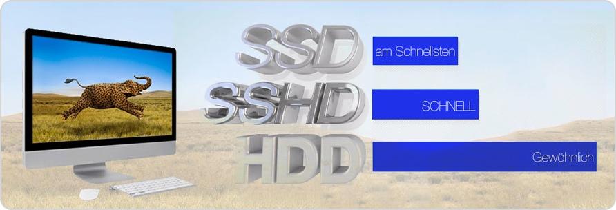 Vergleich SSHD zu den anderen Technologien