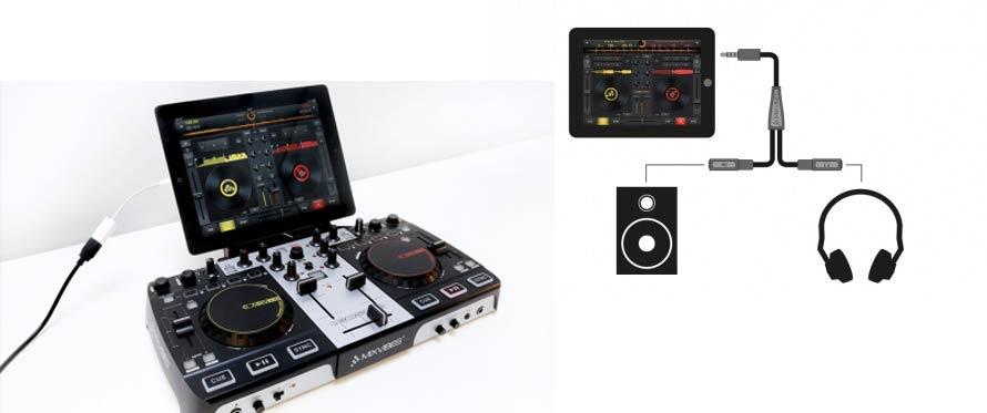 Konnektivität von der App Cross DJ für das iPad