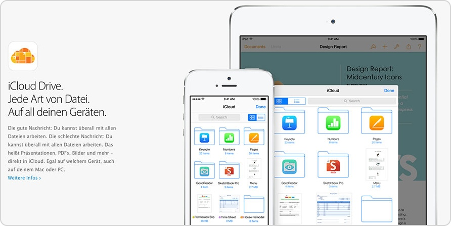 Neues Feature in iOS 8: iCloud Drive