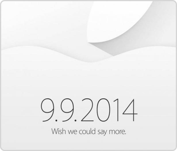 Keynote am 9.09.2014 zum iPhone 6 Special Event steht fest.