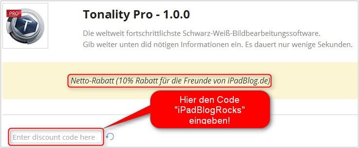 Rabattaktion mit 10% Nachlass beim Kauf der Pro-Version als iPadBlog.de Leser