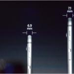 Die Breite der neuen Geräte iPhone 6