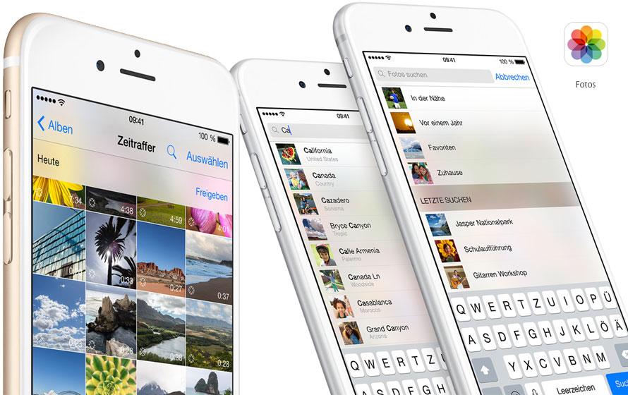 Fotos App auf dem neuen iPhone 6