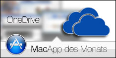 MacApp des Monats im September ist OneDrive