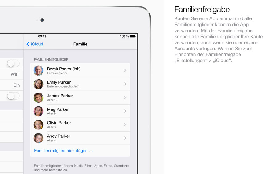 Familienfreigabe in iOS8