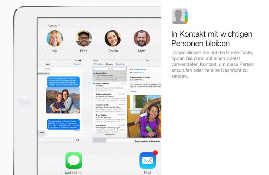 Mit Euren Kontakten in iOS8 kommunizieren