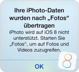 Die Fotos App auf iOS8