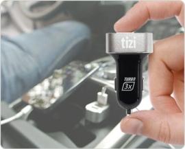 NEU tizi Turbolader – Der 3fach Turbo für Gadgets im Auto