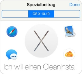 CleanInstall mit OS X 10.10