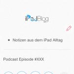 """Nun fügen wir mit der selben Option wie bei Schritt 3 eine Audiodatei ein. In diesem Fall nennen wir sie """"Podcast Episode #XXX"""" Dazu noch einige Trennstriche zur besseren Übersicht."""