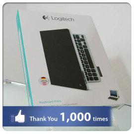 Danke für über 1.000 Facebook Likes: Logitech-Keyboard-Folio-Beitragsbild