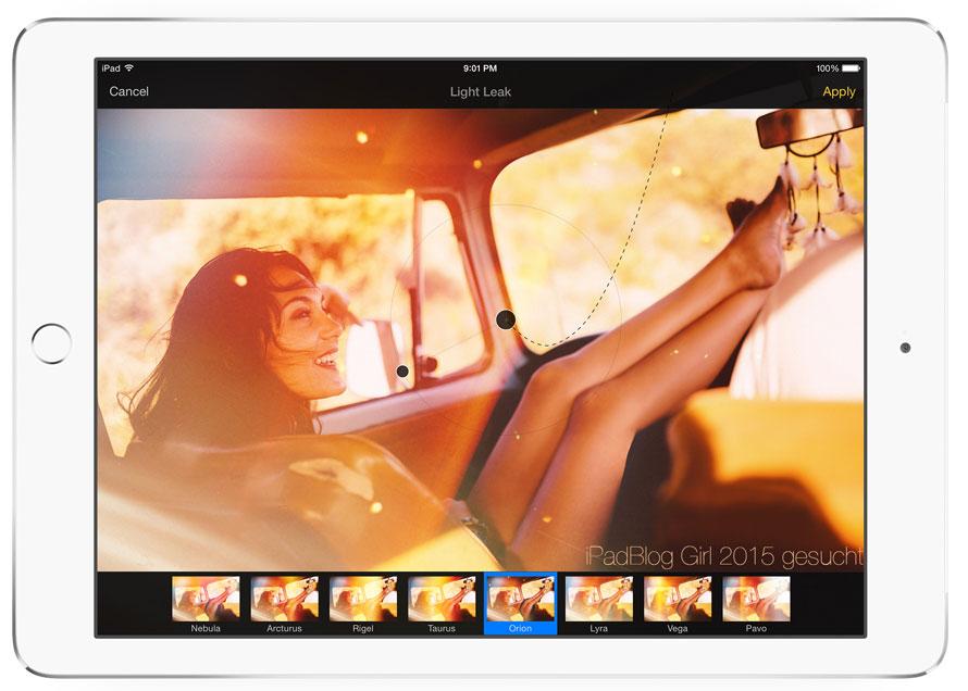 Pixelmator für das iPad - tolle Effekte für die weibliche Kurven können mit der Zeichen-Maschine erstellt werden