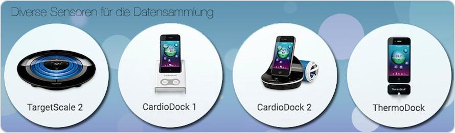 Diverse Sensoren für Vital-Datensammlung