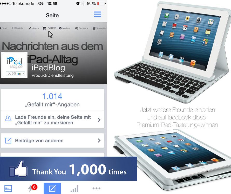Facebook Gewinnspiel und Logitech Tastatur gewinnen
