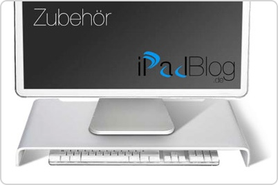 Zubehör Wie Der Imac Mit Dem Tisch Verschmilzt Das Silverstone Mr01s Als Monitorerhöhung Ipadblog