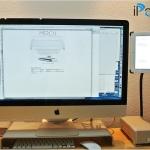 Die perfekte Arbeitsumgebung mit iMac, Monitorerhöhung von Silverstone und G-Raid