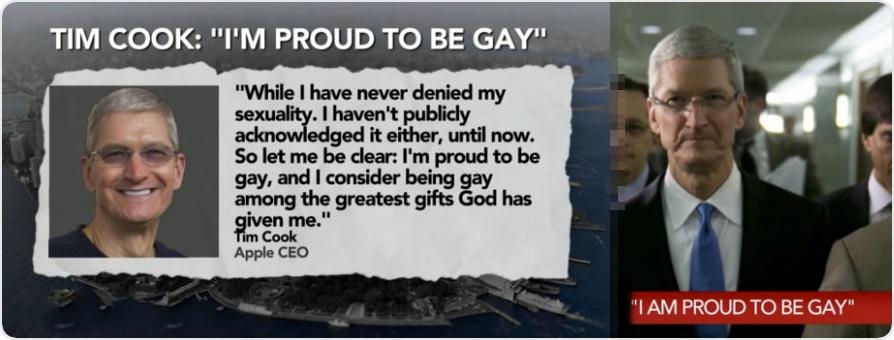 Tim Cook bekennt sich seiner Homosexualität - mit Stolz