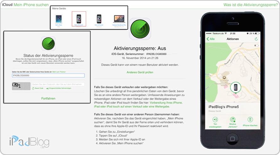 Neues Feature in iCloud - die Aktivierungssperre für iOS-Geräte