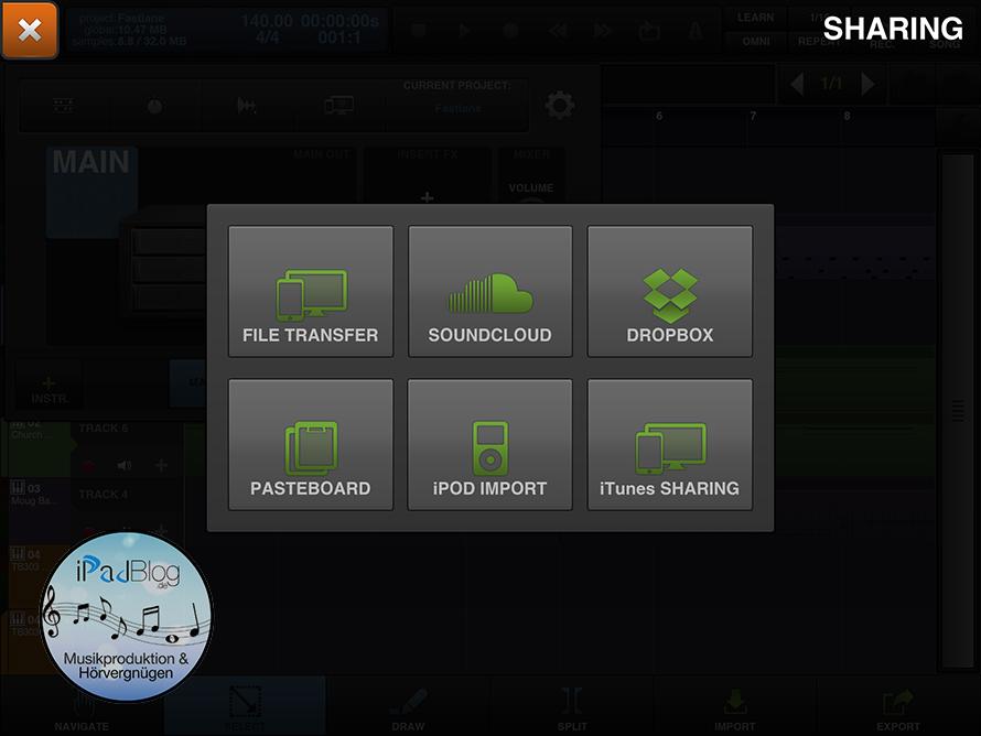So teilt man seinen Musiktrack in BeatMaker 2