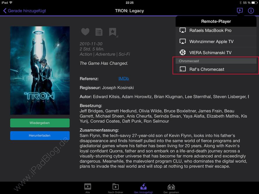Chromecast mit Synology Apps