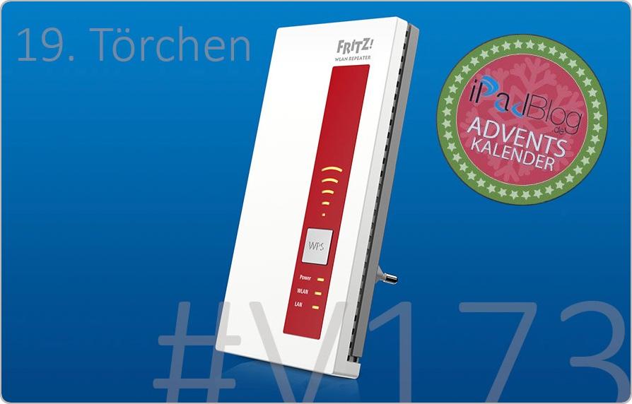 FRITZ!WLAN Repeater 1750E im 19. Adventstürchen auf iPadBlog.de