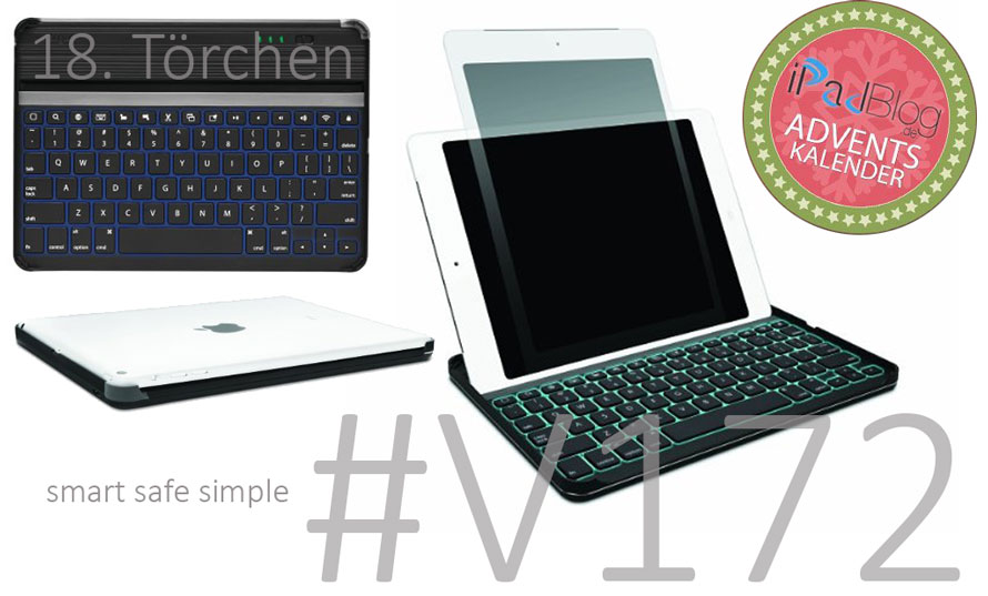 Beitragsteaser zu, 18. Adventstörchen KeyCover Plus Backlit Keyboard Case for iPad