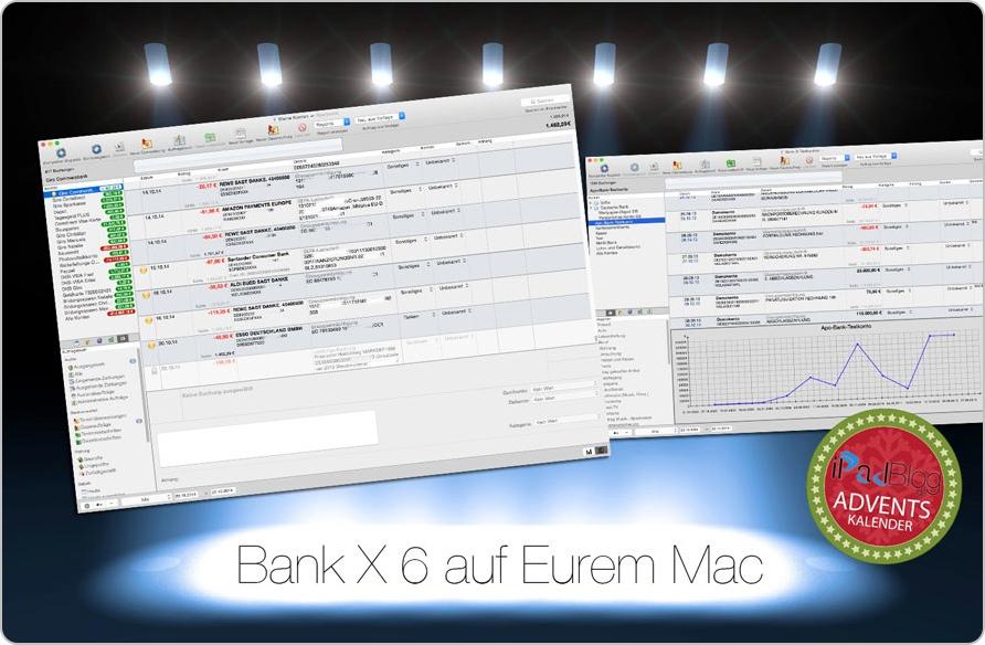 Screenshots von Bank X 6 auf dem Mac - zum 17. Türchen