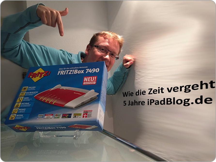 Nagelneue AVM FRITZ!Box 7490 als Gewinn zum 5-jährigen Bestehen des Portals iPadBlog.de