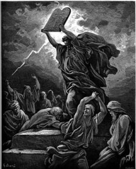 Moses 10 Gebotae auf Tafel – zum 5-jährigen Geburtstag des iPad