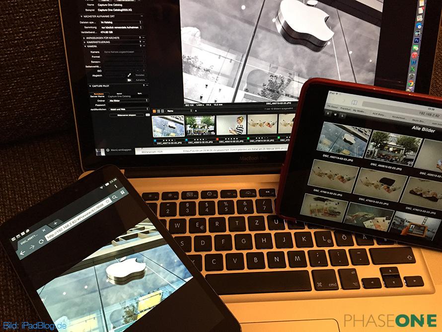 Das Feature Capture Pilot bei Capture One Pro 8