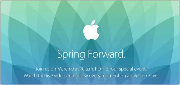 Apple Event mit dem Titel Spring Forward am 9. März 2015