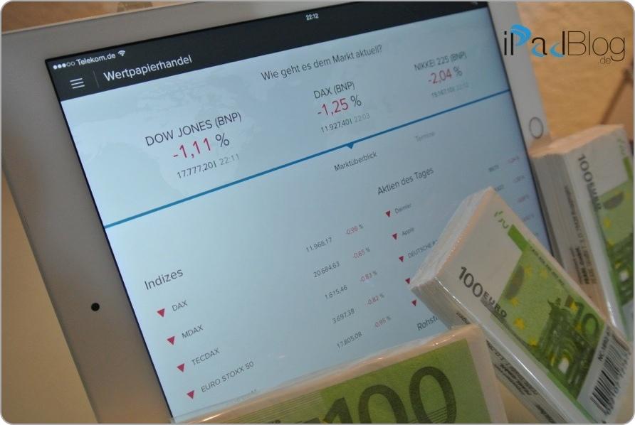 Mit der Börse und dem iPad Geld verdienen