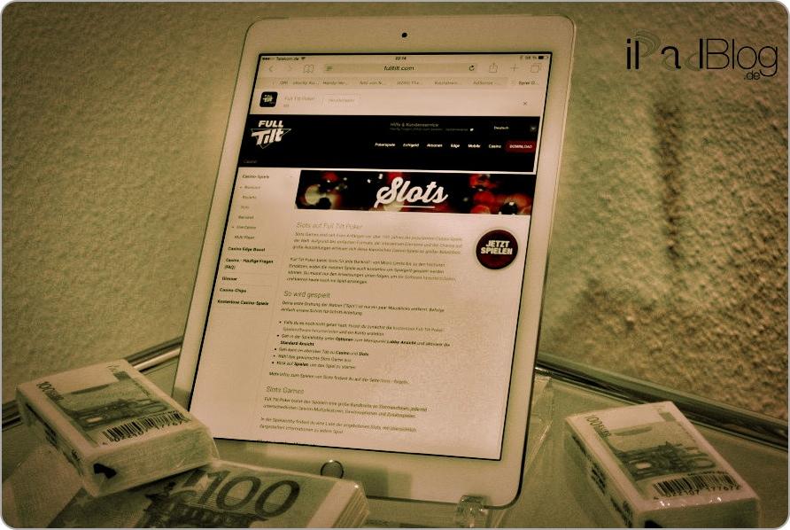 Geld verdienen mit dem iPad - auch Glückspiele wie Slots gehören zu den Massnahmen