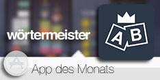 App des Monats März 2015 - Wörtermeister